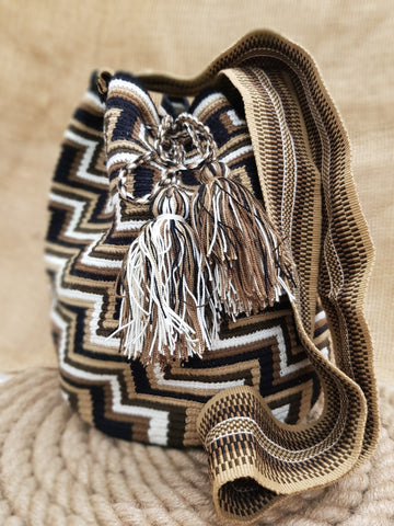 Juli Wayuu Design Brown Mochila Bag