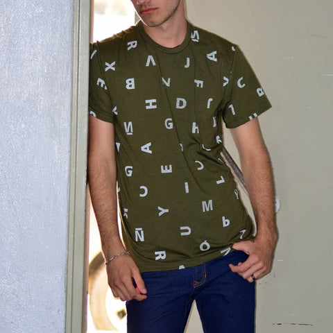 "CPT ""ABC"" Olive Green Men´s T-Shirt"