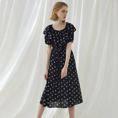 Black Floral Cute Summer Floral Dresses For Women Q4062