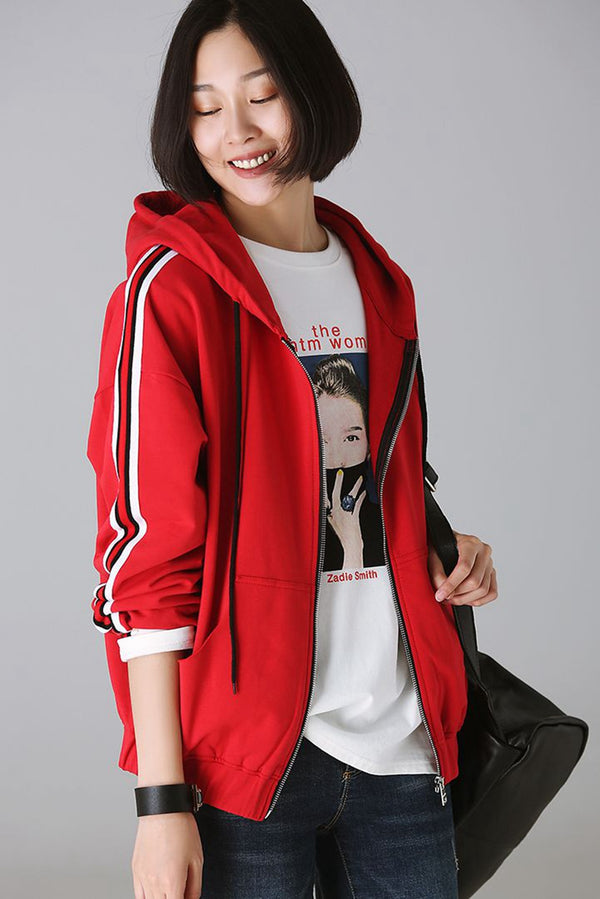 Autumn Hoodie Cotton Coat For Women W8870