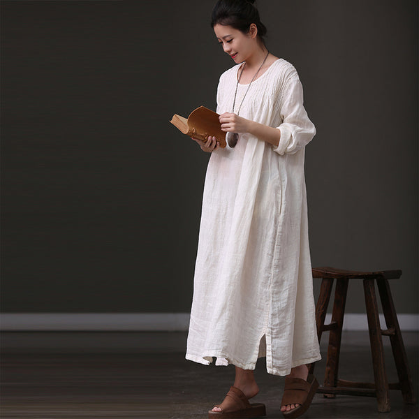 2018 Summer Long Sleeve Casual Maxi Dresses For Women Q555 - FantasyLinen