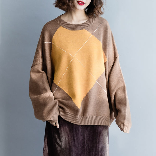 Casual Bat Sleeve Cotton Sweater Women Winter Tops M5111