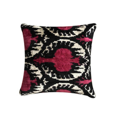 IKAT cushion cover - Cherry - Velvet - Double Sided 40 x 40 cm