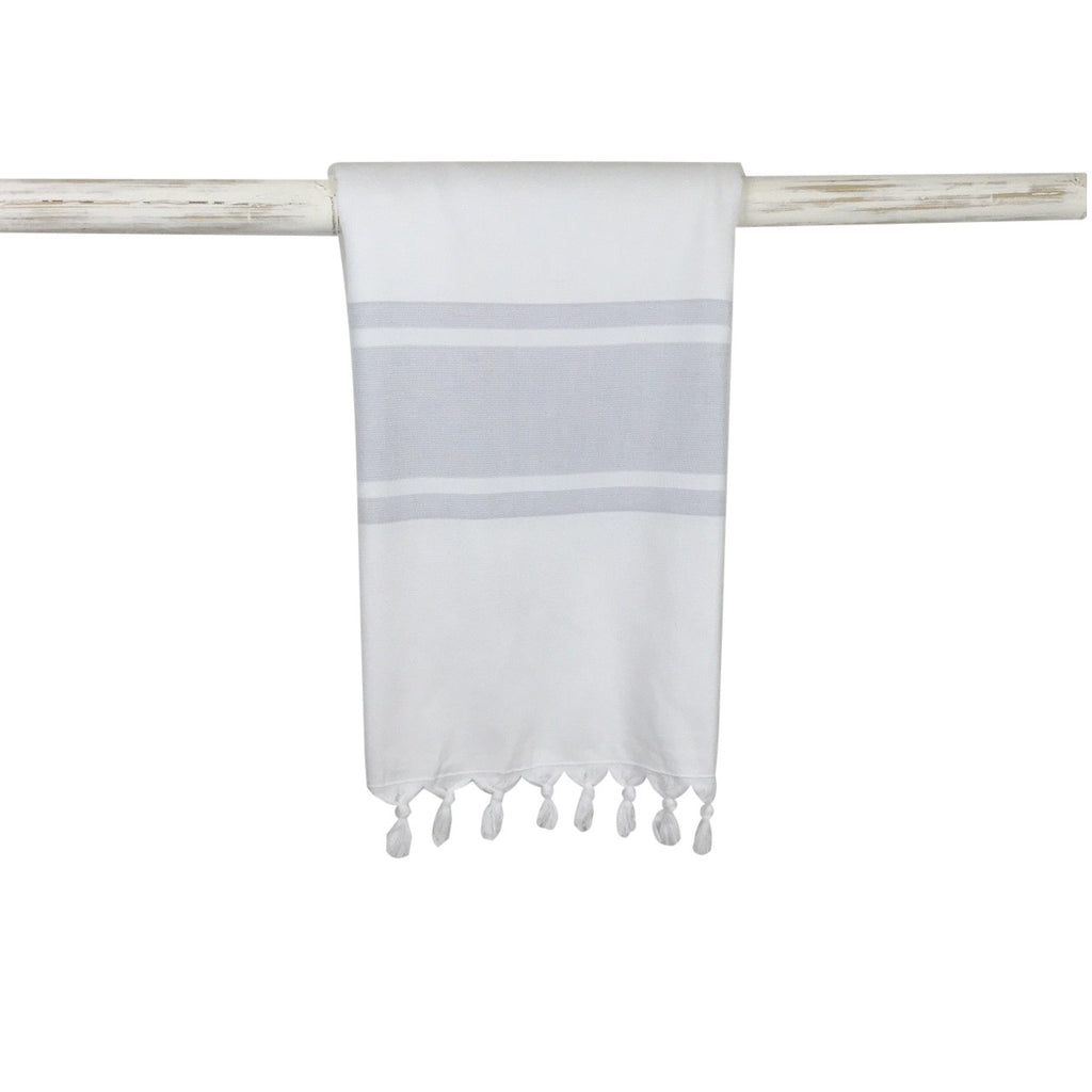 Classic cotton Hand Towel with light grey stripes from my little wish
