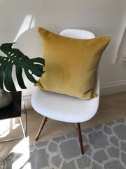 Velvet cushion cover - Mustard -  50 x 50 cm