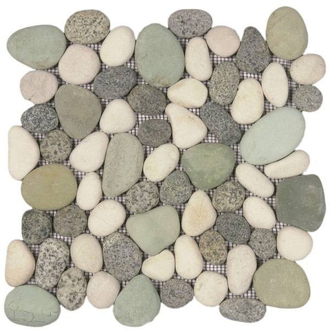 Bati Orient- GAMI58R Mix Speckled Green/White Rectified Pebble Matte