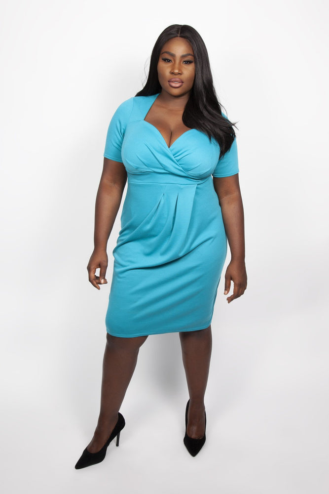 Scarlett & Jo Dresses Mosaic Blue / 12 Twist Skirt Bodycon