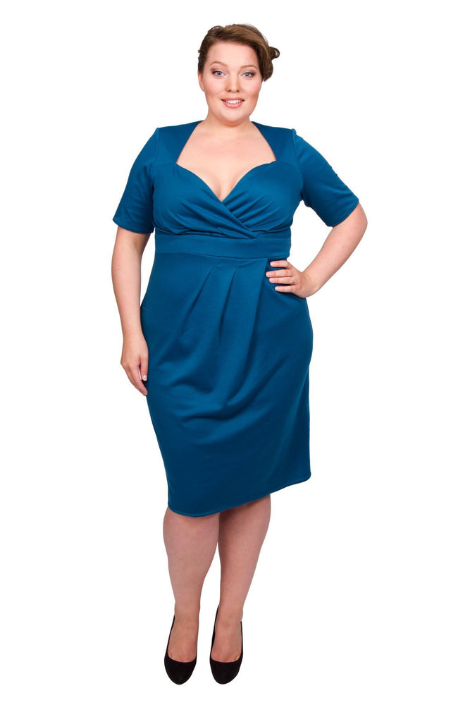 Scarlett & Jo Dresses Teal / 12 Twist Skirt Bodycon Dress (Teal)