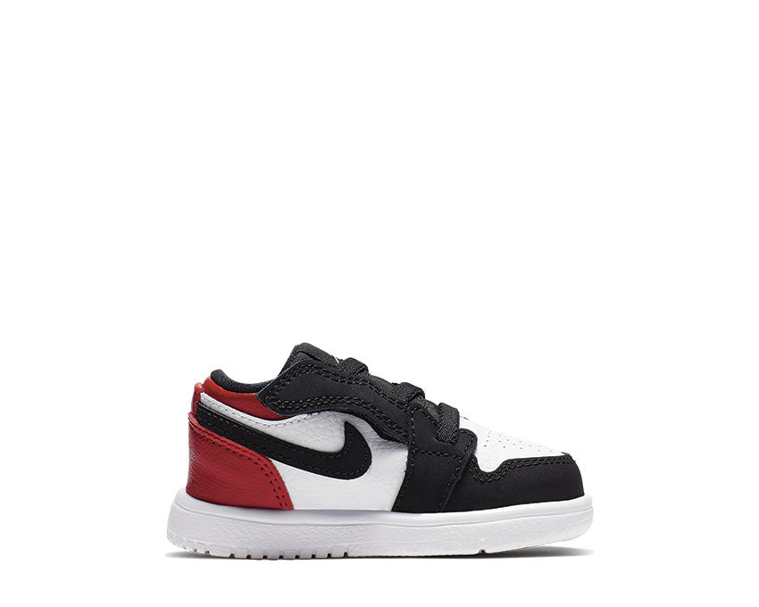 Jordan 1 Low Alt Black Toe Baby / Toddler White / Black - Gym Red CI3436-116