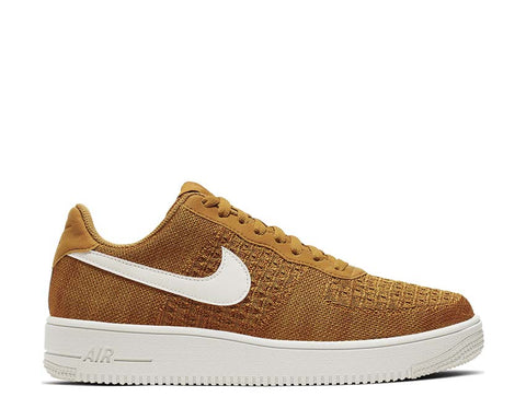 Nike Air Force 1 Flyknit 2.0 Gold Suede