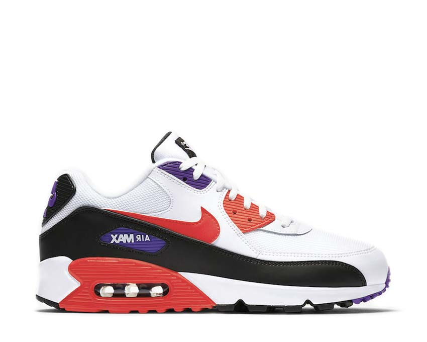 Nike Air Max 90 White Red Orbit Psychic Purple Black AJ1285-106