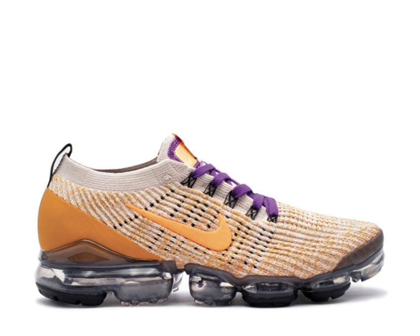 Nike Air Vapormax Flyknit 3 Desert Sand Total Orange Voltage Purple AJ6900-008