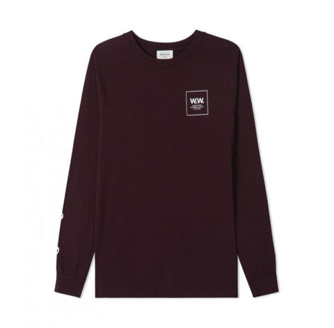 Wood Wood Han Long Sleeve Burgundy
