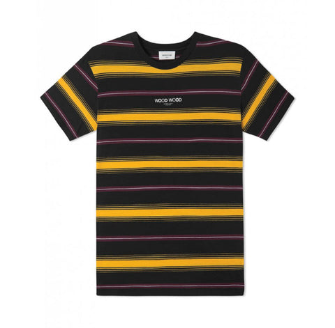 Wood Wood Perry T-shirt Yellow Stripes
