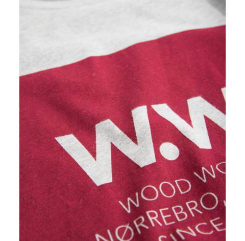 Wood Wood Square T-Shirt Grey Melange 11815722-2334- NOIRFONCE