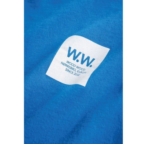 Wood Wood WW Box T-Shirt Bright Blue