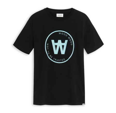 Wood Wood AA Seal T-Shirt Negro
