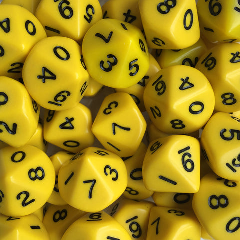 Decahedral ones dice (0-9)