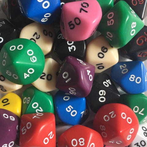 Decahedron tens dice (00-90)