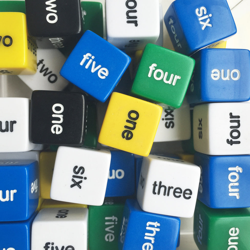 Word dice (one-six)