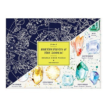 2 in 1 Birthstone and Zodiacs Puzzle