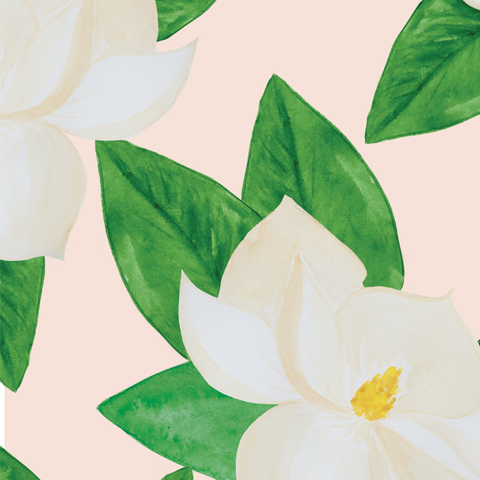 Magnolias on Blush Wrapping Paper
