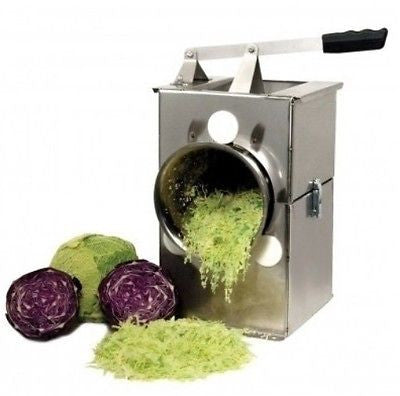 Cabbage Shredder Chop Stainless Steel Cutter Slicer Coleslaw Sauerkraut Rolls - ShopMonkeez  - 1