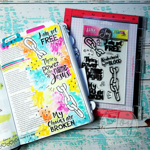 Chain Breaker  | Bible Journaling Clear Stamp Set