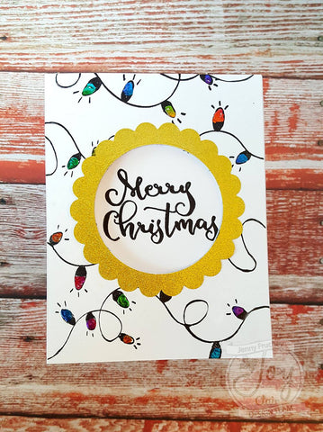 Christmas Lights Background stamp
