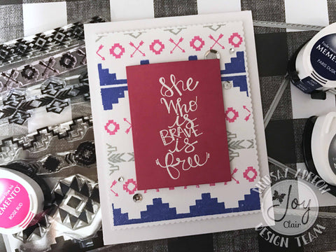Aztec background Clear Stamps