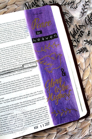 Born is the King | Bible Journaling Clear Stamps