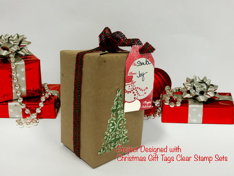 Christmas Gift Tags Clear Stamps