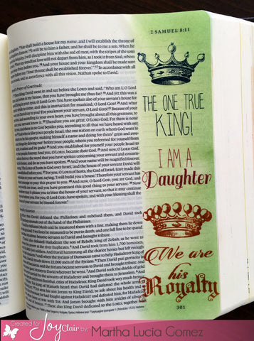 Child of the King | Bible Journaling Clear Stamp