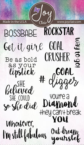 Boss Babe Clear Stamps