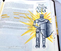 Clear Stamps - Armor of God | Bible Journaling Clear Stamps - Joy Clair - 9