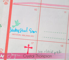Clear Stamps - Bible Planner | Bible Journaling Clear Stamps - Joy Clair - 2