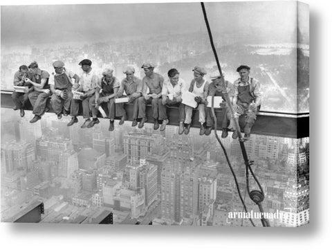 Cuadro Ciudades Charles C. Ebbets New York Construction Workers Lunching On A Crossbeam, 1932