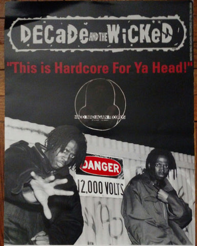 AUTHENTIC ,ORIGINAL VINTAGE 1995 DECADE AND THE WICKED  TOUR/GIG POSTERS !!!