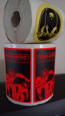 VINTAGE LIMITED EDITION !!! DECADE AND THE WICKED / MADD-MAD-AGAIN STICKERS !!!