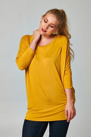 Plus Size Long Sleeve Basic Solid Top