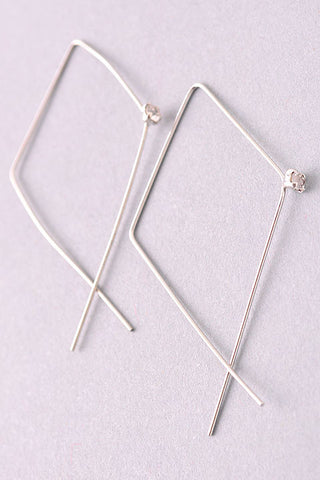 Wired Hoop Earring With Pearl Detail