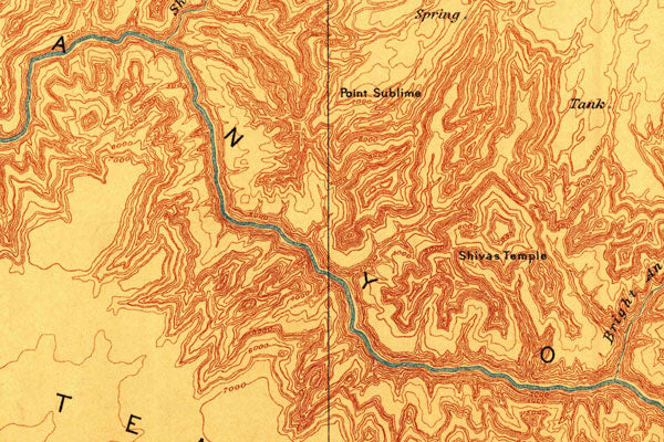 Vintage Map - Grand Canyon National Park (1886)