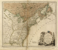 1783 Map of the United States of America