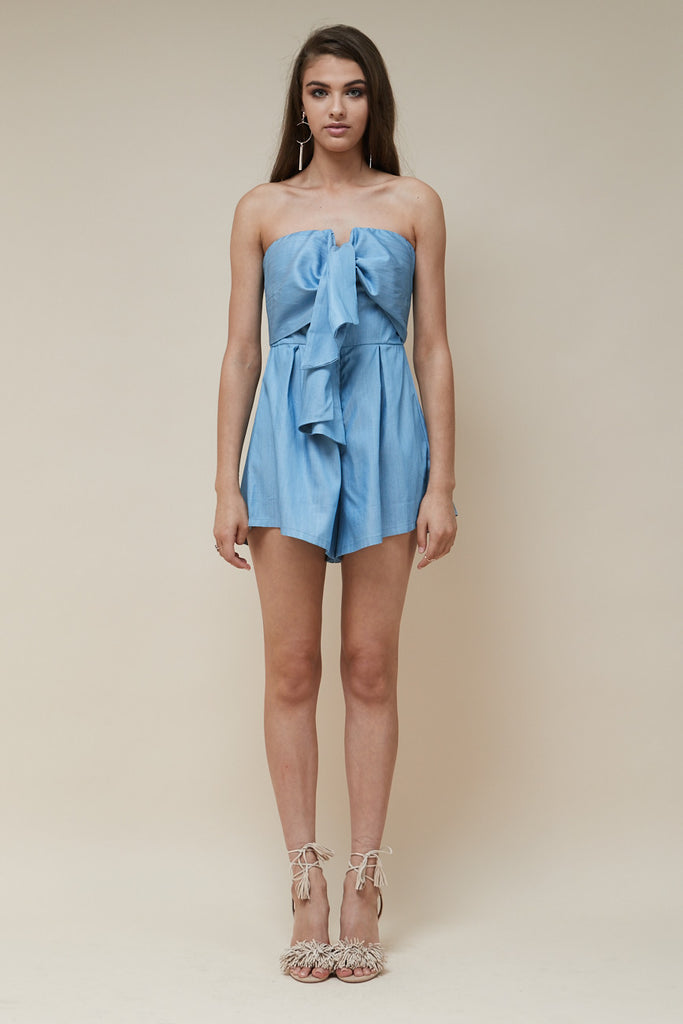 Sweetheart Playsuit Chambray - Morrisday | The Label - 1