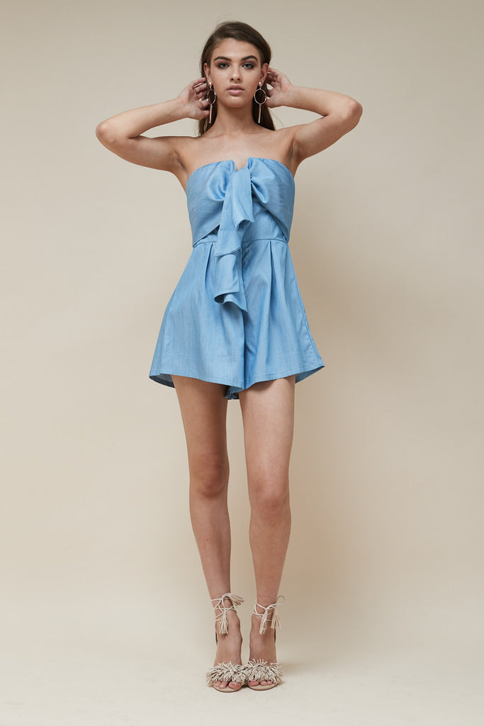 Sweetheart Playsuit Chambray - Morrisday | The Label - 3