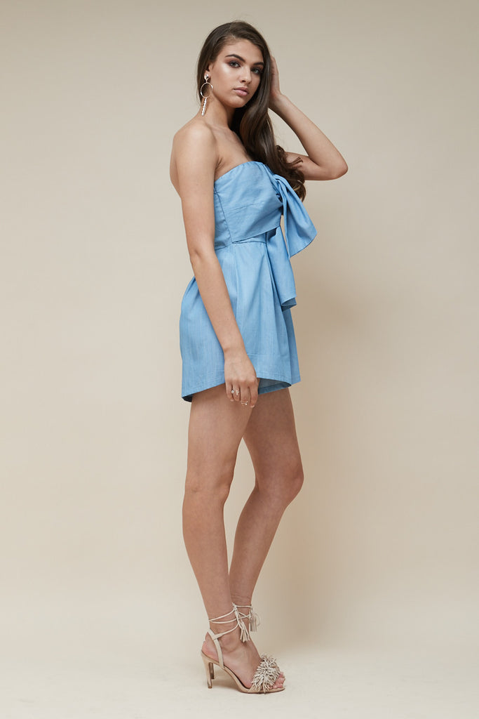 Sweetheart Playsuit Chambray - Morrisday | The Label - 4