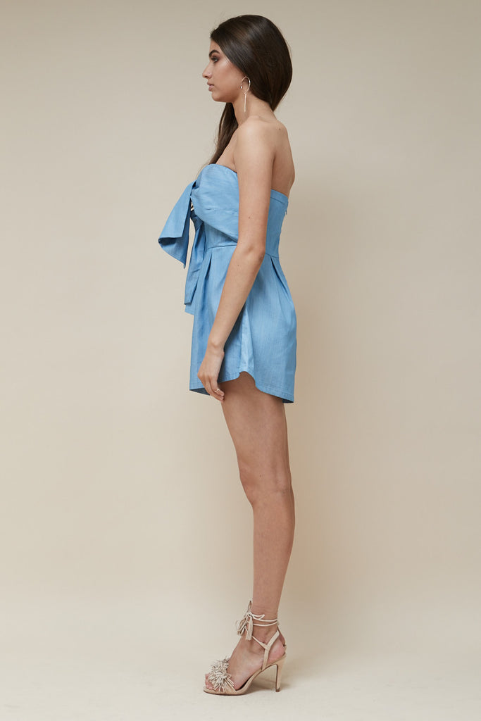 Sweetheart Playsuit Chambray - Morrisday | The Label - 5