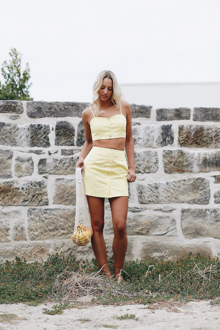 Paloma Mini Skirt Lemon