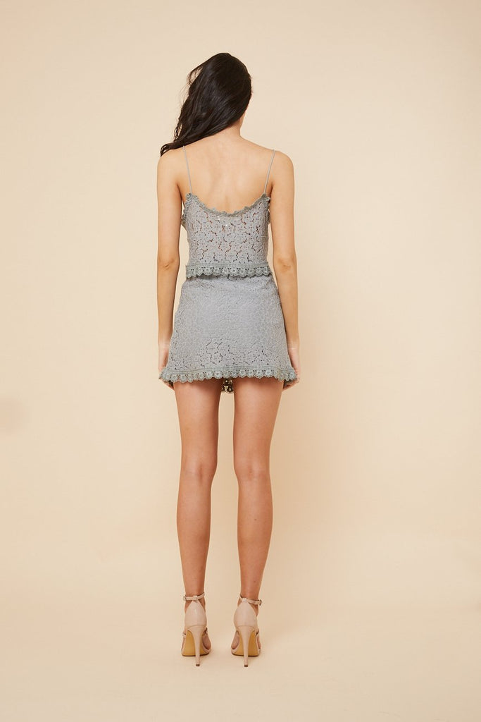 Song Bird Lace Skirt Grey