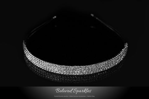 Celes-5 Four Rows Rhinestone Headband | Rhinestone - Beloved Sparkles